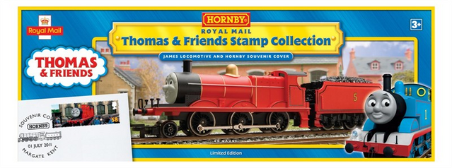 File:James the Red Engine - British Stamp Collection.png