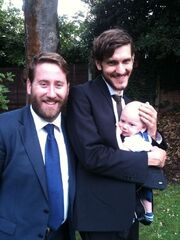 Bo with his father and Jim Howick