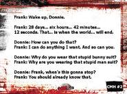 Frank the bunny monster card back