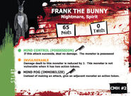 Frank the bunny monster card front