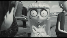 Frankenweenie Weird Girl and Mr. Whiskers