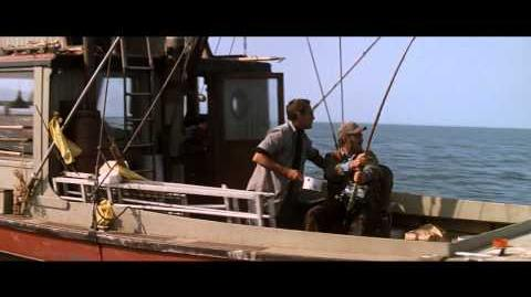 Jaws 1975 scene -- He's Gone Under the Boat