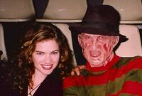 Heather and Freddy making of New Nightmare