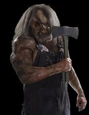 Victor crowley holding axe