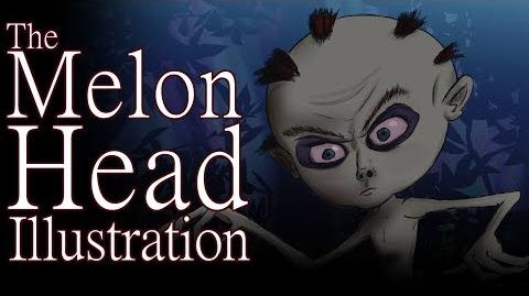 """The Melon Head Illustration"" by Raidra - Creepypasta"