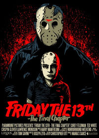 Friday the 13th- The Final Chapter; Poster with Tommy Jarvis