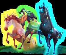 Göttliche Pferde