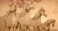 Tausendjährige Pferde Banner