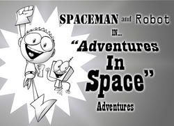 Spaceman and robot