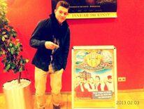 Gerrit meets 'himself' in the cinema