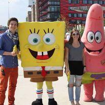 Patrick und Carola mit Spongebob und Patrick