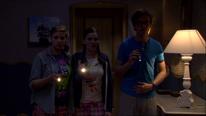 Liv, Anna und Tom wollen den Generalschlüssel testen