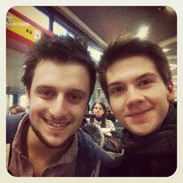 Marcel und Patrick auf dem Weg nach München
