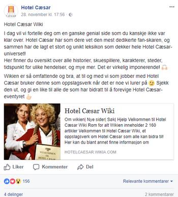 Hotel Cæsar Wiki (Facebook)