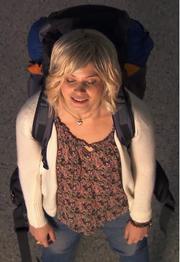 Vanessa som backpacker