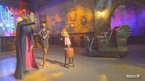 Hotel Transylvania Ride Car passing by Dracula, Mavis & Winnie