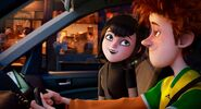 Mavis and Johnny in the car