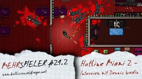 Mehrspieler -21.2- GC 2013 - Interview mit Dennis Wedin zu Hotline Miami 2