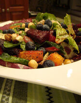 Warm Beet Salad with Toasted Hazelnut & Blueberry