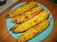 Roasted cayenne corn