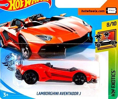Hot Wheels Orange Lamborghini Aventador J Kids Diecast Model Toy Car HW Exotics