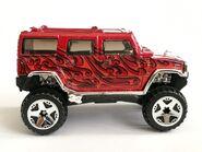 Hummer H2 Red 06 Side
