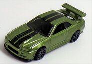 Skyline R-33 Mtfk Green Nissan Series topvue2