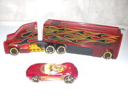 Truckin' Transporters 8139FA  Phastasm (translucent red,black-yellow Flames or Tribals,gold 5SP)