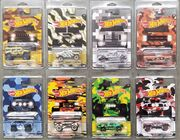 Hot wheels camouflage truck series set of 8