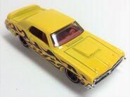 69 Mercury Cougar Eliminator. Yellow. HW Flames Series. Topvue