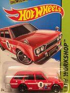 2014 206-250 HW Workshop - Garage 06-10 '71 Datsun Bluebird 510 Wagon '0' Red