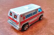 Hot wheels 70 van ambulance rear