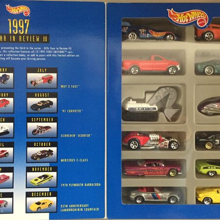 Hot Wheels Hills Exclusive 1997 Year In Review Complete Set 12 Newly-tooled Cars