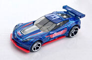 HW CORVETTE C7.R 2018 MULTIPACK BLUE