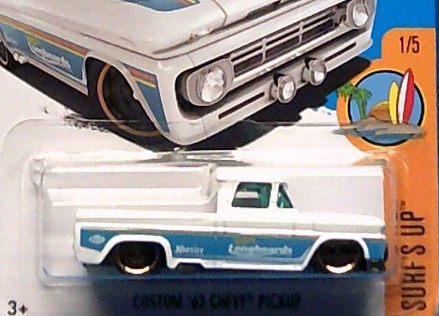 File:2017 Custom 62 Chevy Pickup White Surf's Up .jpg