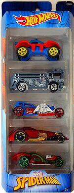 Hot Wheels Spider Man 5 Pack