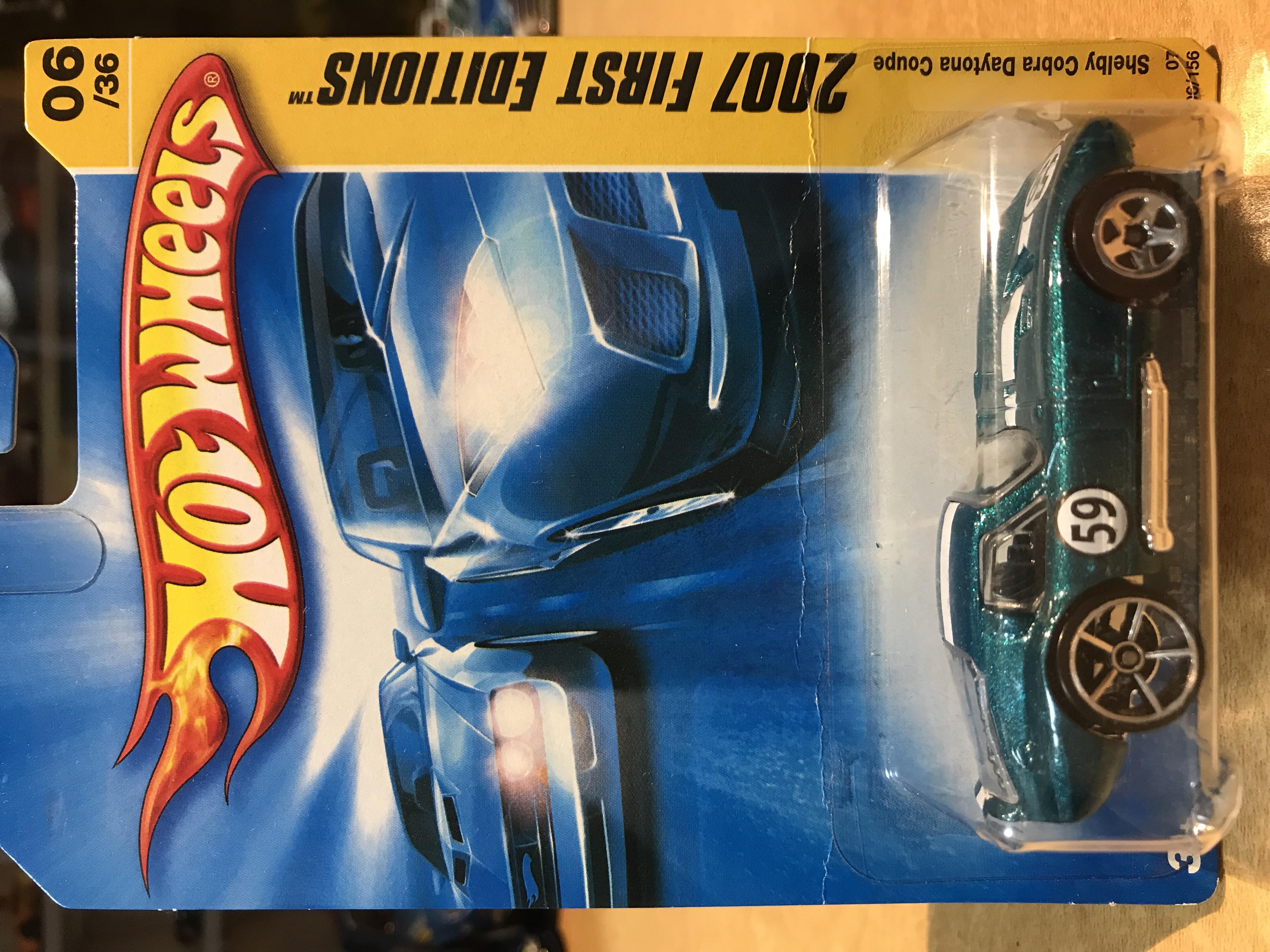 Hot Wheels Shelby Cobra Daytona Coupe 2007 New Models Silver