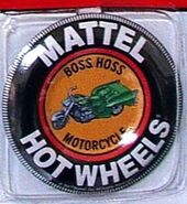 Boss Hoss Motorcycle Green Button