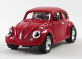 Miniatura HW Hot Wheels Volkswagen VW Fusca 1966 66 Volkswagen Bug Beetle 2001 Hot & Classic – Bugs & Buses 4 Car Set Vermelho (1)