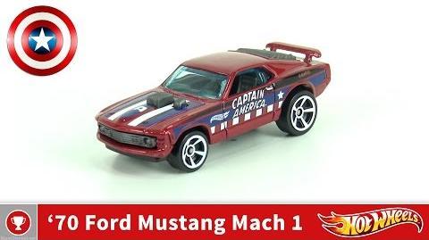 Hot Wheels - 70 Ford Mustang Mach 1 - Captain America (4K UHD)