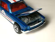 65 Mustang Blue 19 hood detail