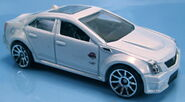 Cadillac CTS-V white pearl metallic Holiday Hot Rods 2011