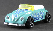HW Hot Wheels VW Bug Fusca Volkswagen Beetle Convertible 2014 - 4th of July (1)