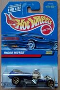 1998 Hot Wheels Rigor Motor 852 blue