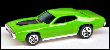 Hot Wheels 2002 Plymouth GTX 1971 Yellow 5sp 55001
