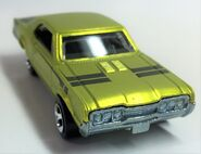67 Oldsmobile 442. Cool Collectibles. Spectrafrost Lime. Frontvue2