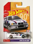 BMW E36 Race White 19 Card