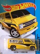 2015 020-250 HW City - Performance - Custom '77 Dodge Van -Mooneyes- Yellow
