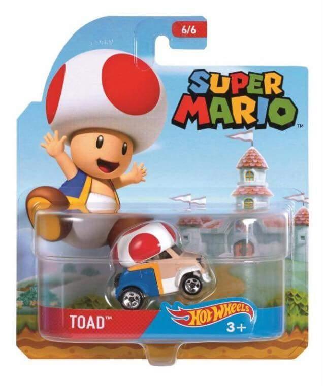 Hot Wheels FLJ28 Mario Bros Toad Character Car