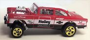 55 Chevy Belair Gasser. 2019 Holley Recolor. Sidevue